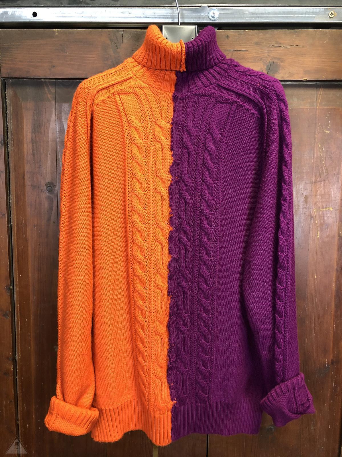 Maglione Treccia Bicolor