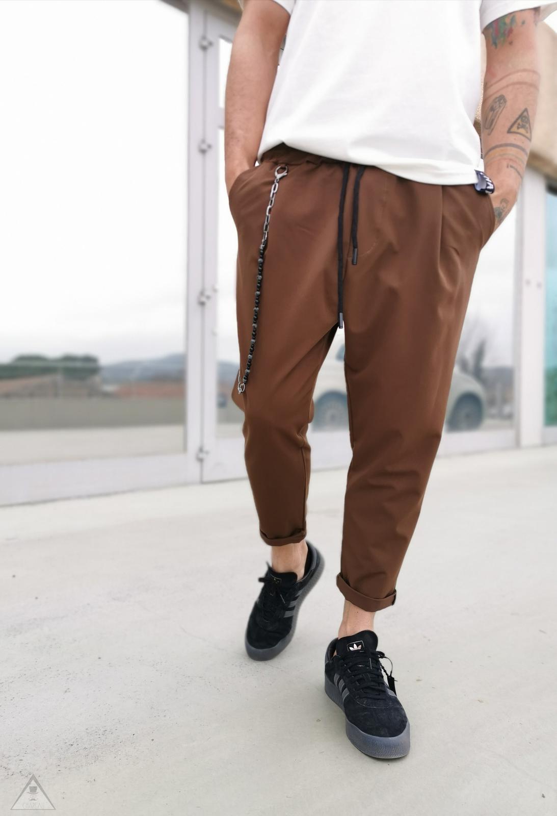 Pantalone Baggy Tabacco