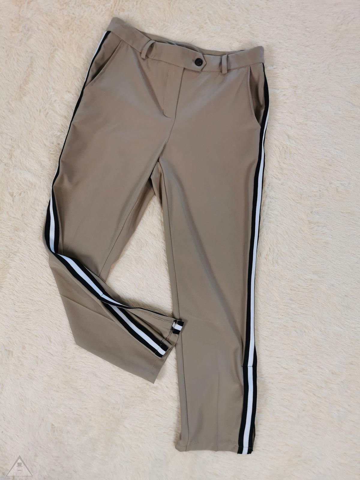 Pantalone Banda black white