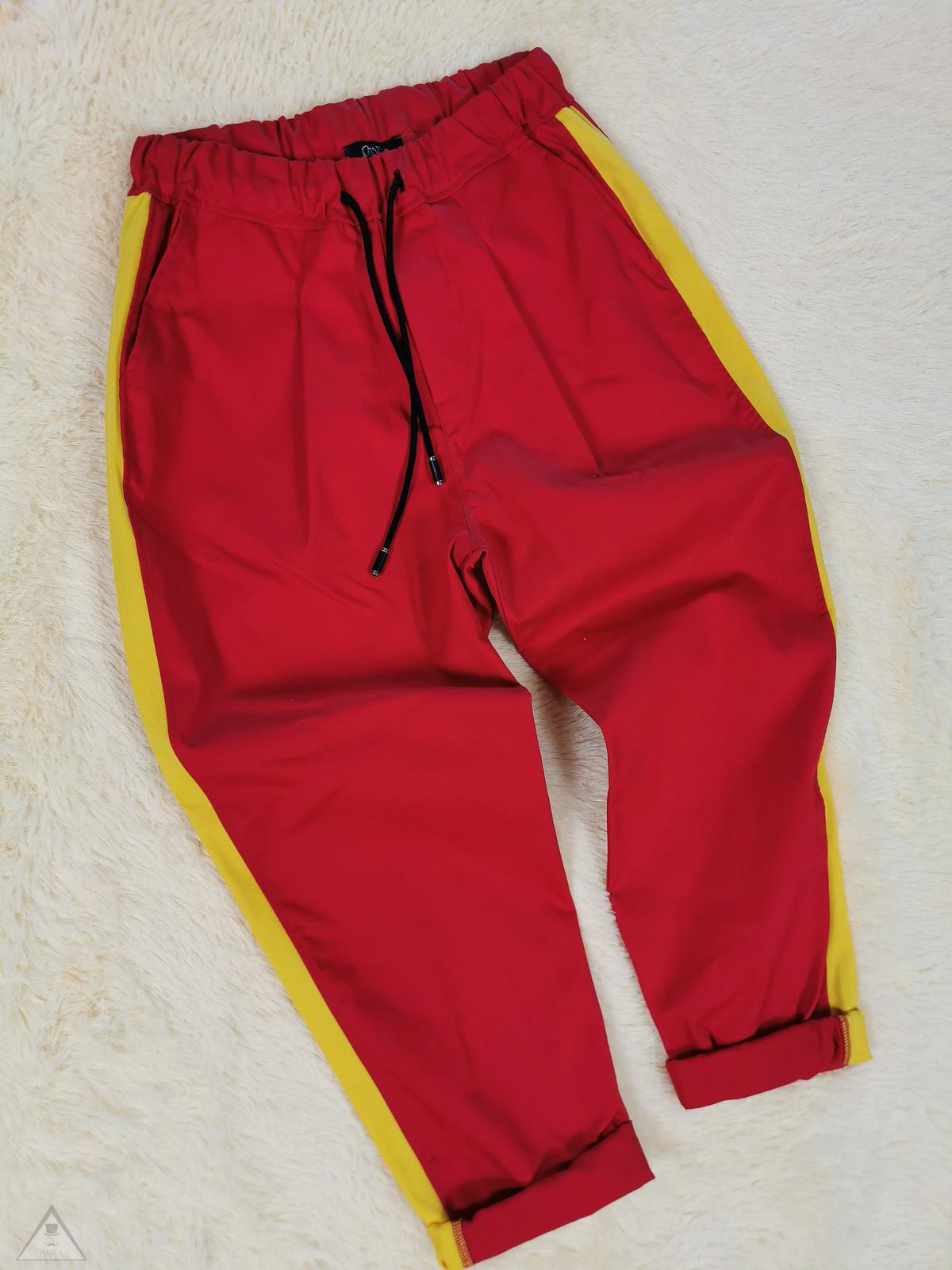 Pantalone banda gialla