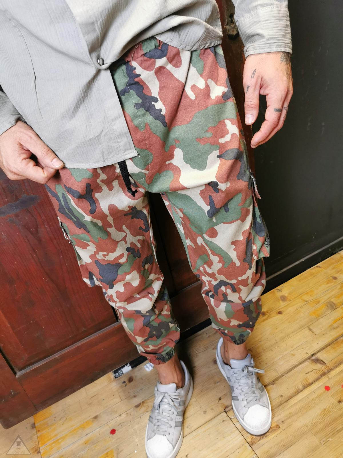 Pantalone cargo camouflage
