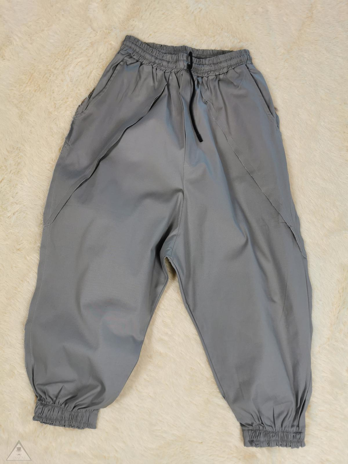 Pantalone cavallo basso grigio