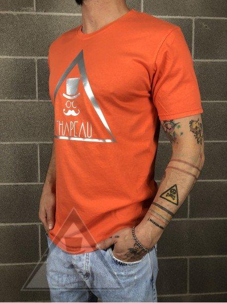 T-shirt Arancione Logo