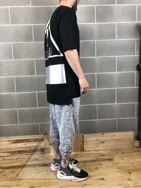 T-Shirt Nera Silver/Fluo
