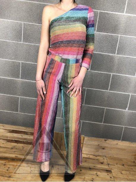 Top Monospalla Multicolor